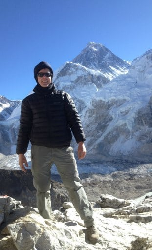 Martin at Everest Base Camp